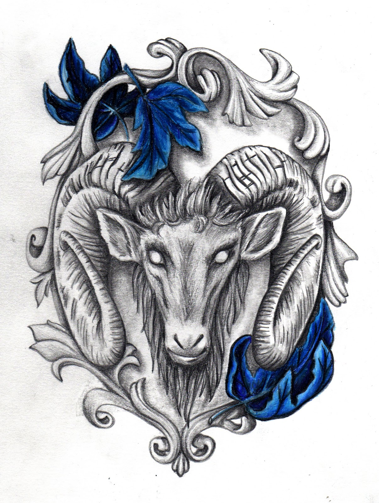goat head painting. Black Bedroom Furniture Sets. Home Design Ideas