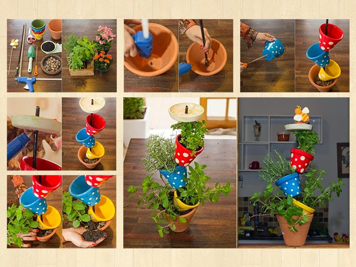 Украшения для домашних цветов своими руками 28