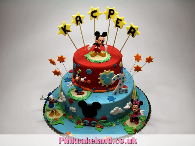 2nd Birthday Cake for Kids in London - Mickey Mouse Clubhouse