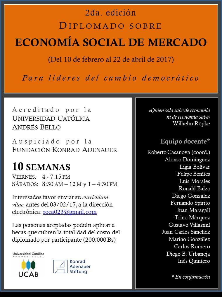 """Diplomado: """"Economía Social de Mercado"""""""