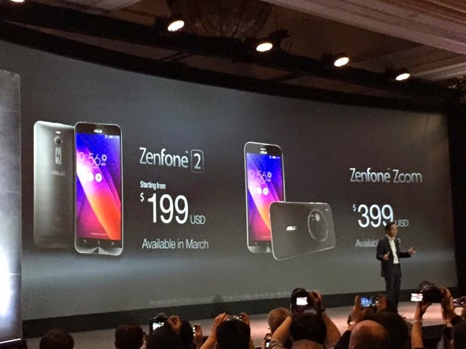 Price in US Dollar for ASUS Zenfone 2 and zenfone Zoom