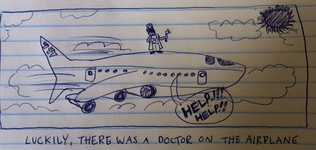 a doctor on the airplane