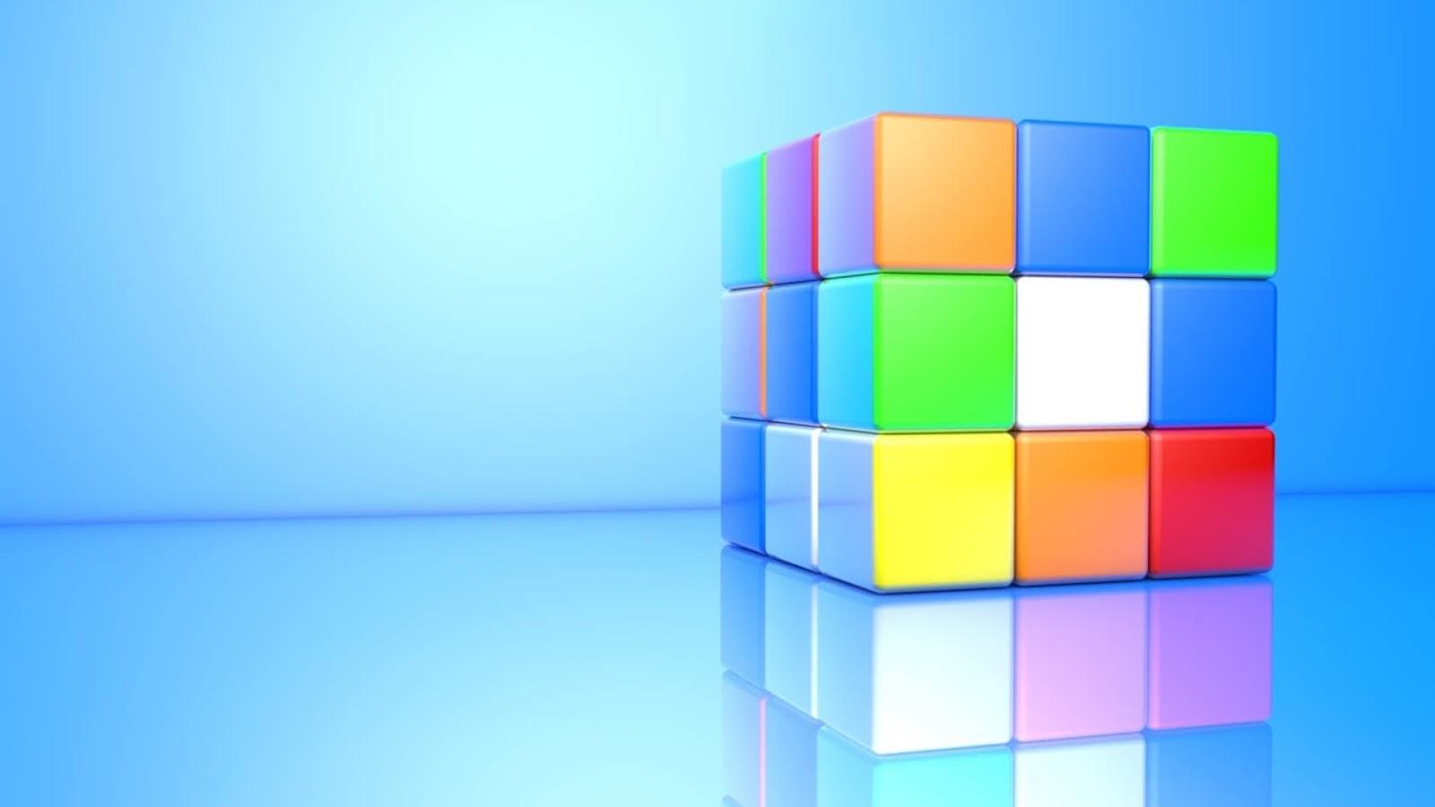 3D Rubiks Cube Mystery Wallpaper