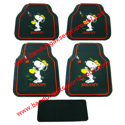 Karpet Snoopy I Love Black Guang Zhou