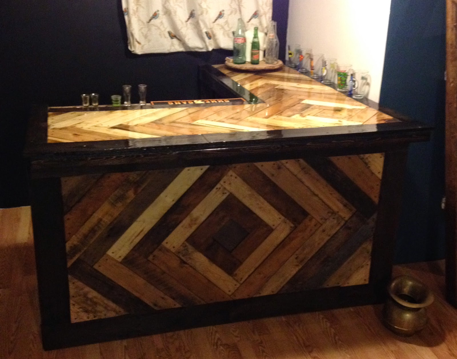How To Build A Bar From Pallets Sketches for the bar top and