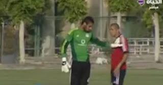 خناقة محمد زيدان مع الشناوى قبل مباراة مصر و غينيا
