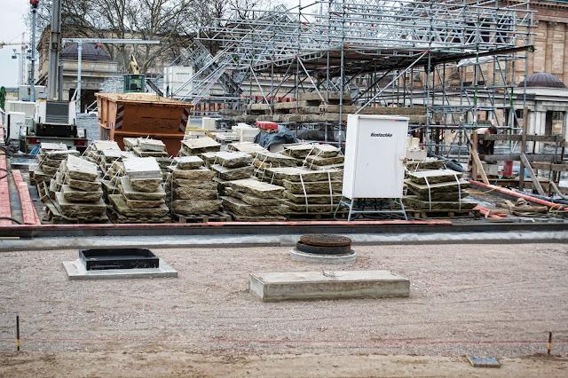 Baustelle Museumsinsel, Friedrichsbrücke, Brückensanierung, Bodestraße, 10178 Berlin, 22.03.2014