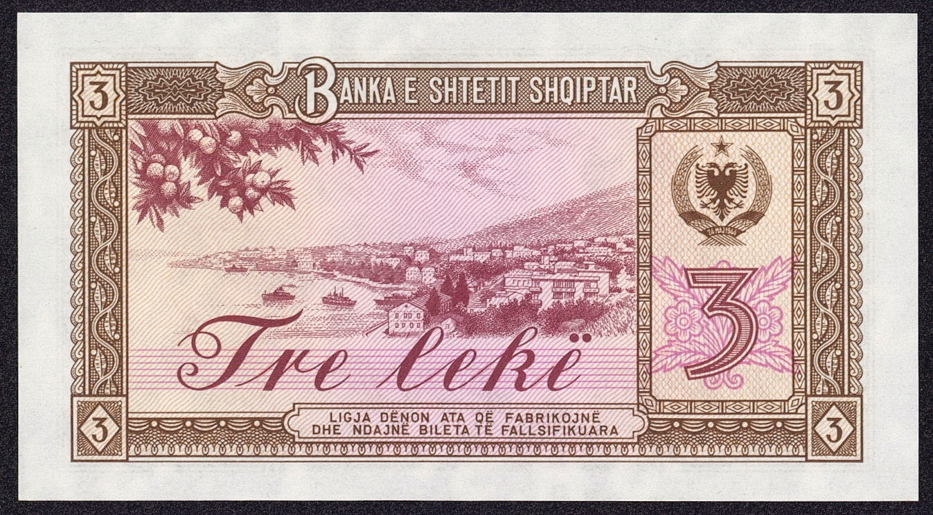 albanian banknotes English: 50 lek albanian banknote showing pickaxe and rifle symbol - copied  from  .