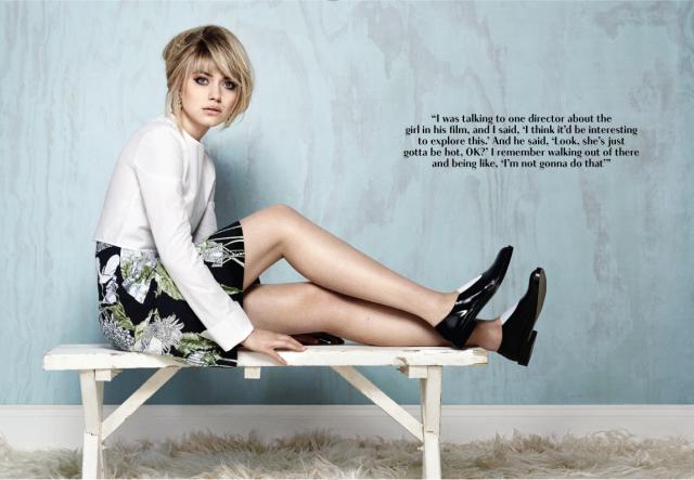 Imogen Poots en Flare Magazine