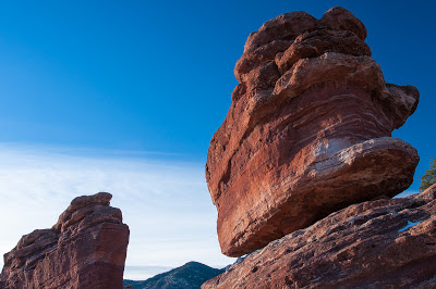 Balanced Rock and Steamboat Rock at Garden of the Gods