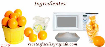 naranja confitada ingredientes