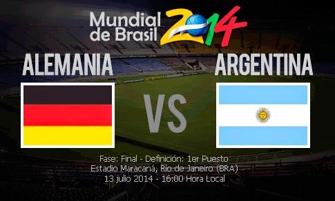 Alemania vs Argentina en VIVO