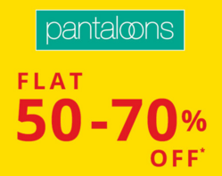 Trendin Pantaloons Offer Zone : Get Flat 50% to 70% off on Men's Clothing