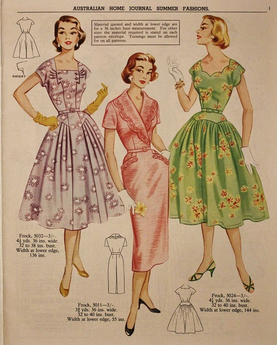 Australian Home Journal Vintage Sewing Pattern Catalogue 1957 www.loweryourpresserfoot.blogspot.com