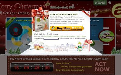 Digiarty 2012年聖誕節活動序號及軟體下載畫面