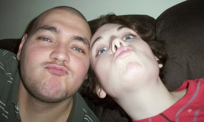 goofy couple, silly, losers, duck face, imitating duck face, up nose shot, selfies, Logan Payette, Suzanne Amlin, A Coin For the Well, blog, personal blog, lifestyle blog