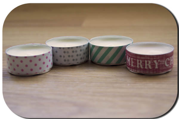 washi tape velas diy