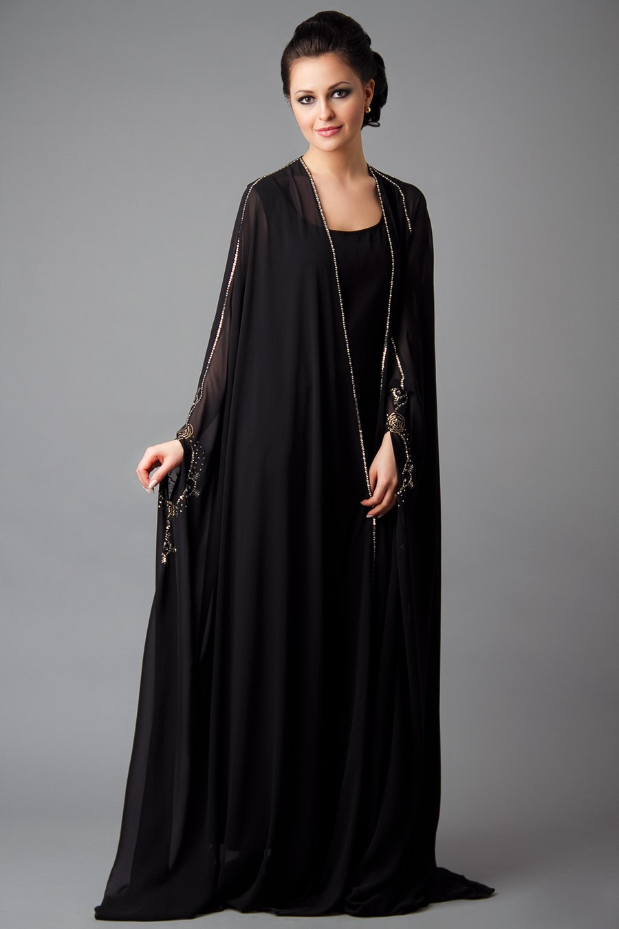 Designer Embroidered Abaya Collection 2013 2014 New Abaya Collection She9 Change The Life