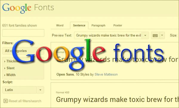 @font-face Google Font Terbaru 2014