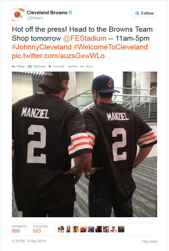 Johnny Manziel's jersey