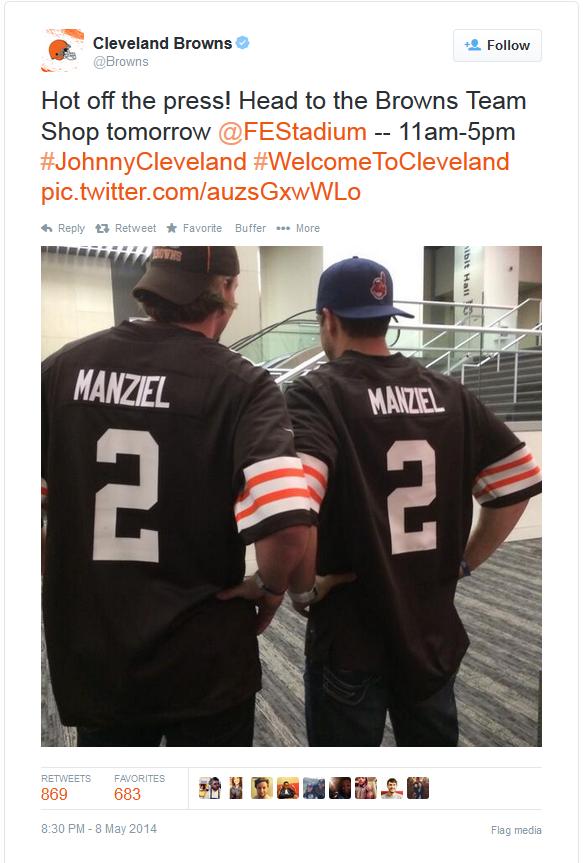 Johnny Manziel's jersey