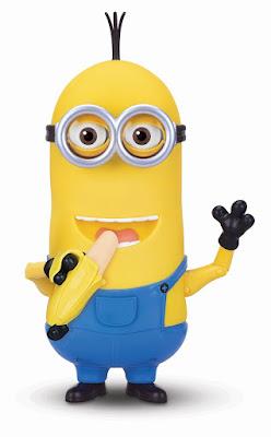 TOYS : JUGUETES - MINIONS  Kevin parlanchín con banana  Minions Kevin Banana Eating Action Figure   Muñeco Interactivo - Figura con plátano Producto Oficial Película 2015 | Mondo 31004 | A partir de 4 años Comprar en Amazon España