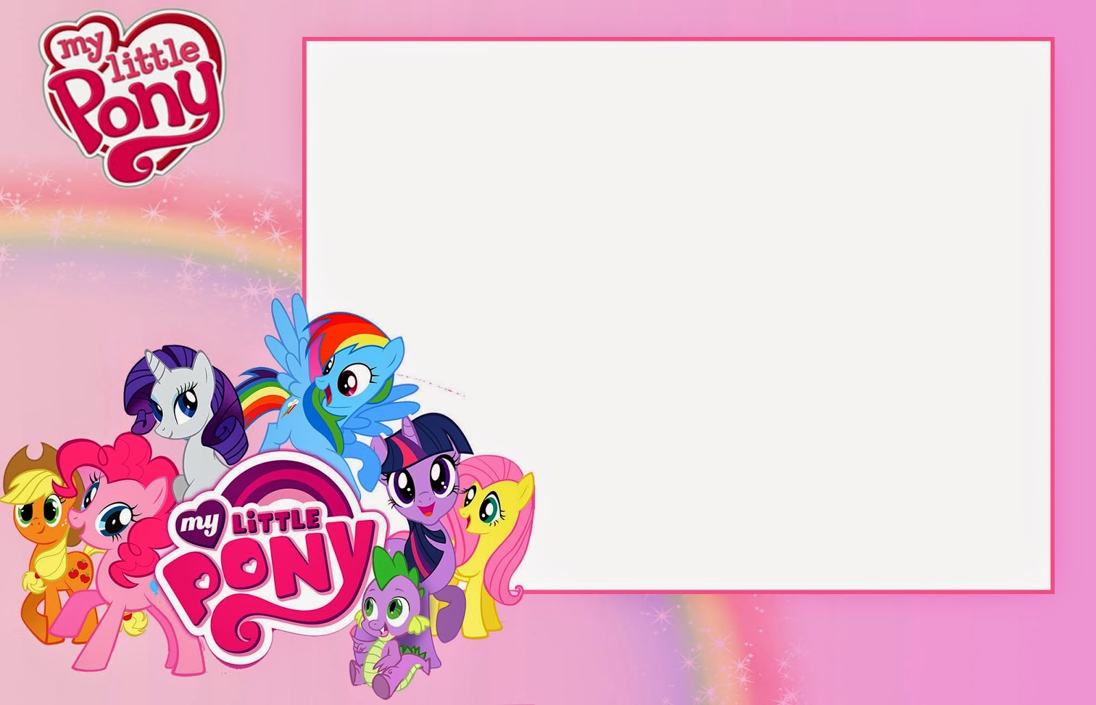 My Little Pony Party: Free Printable Invitations. | Oh My Fiesta! in ...