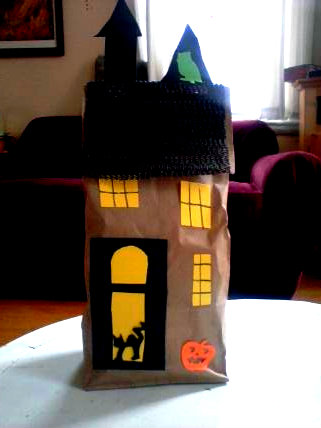 marvelously messy paper bag haunted house
