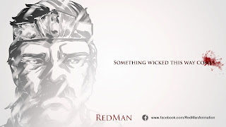 "©2013 Red Man ""Something Wicked"" Title Card (www.fb.com/redmananimation). Artwork by Dulani Wilson (www.bluntspear.co.uk). All rights reserved."