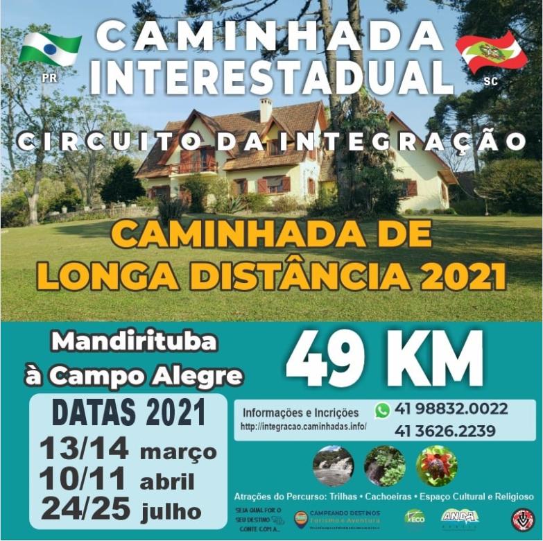Caminhada Paraná/Santa Catarina em 2021