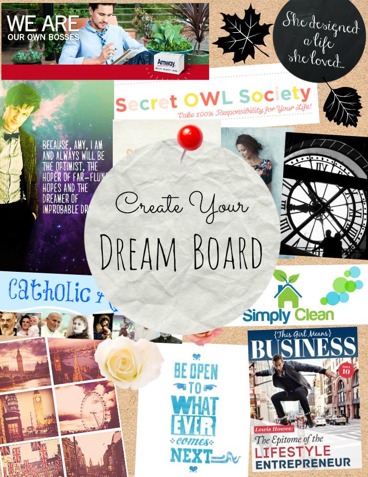 Secret owl society create a dream board using picmonkey for Home design vision board