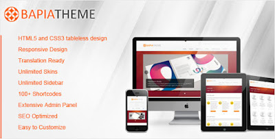 Theme Wordpress Business Respoinsive BAPIA Template Toko Online