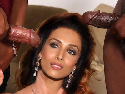 Nude Malaika Arora Sucking black cock
