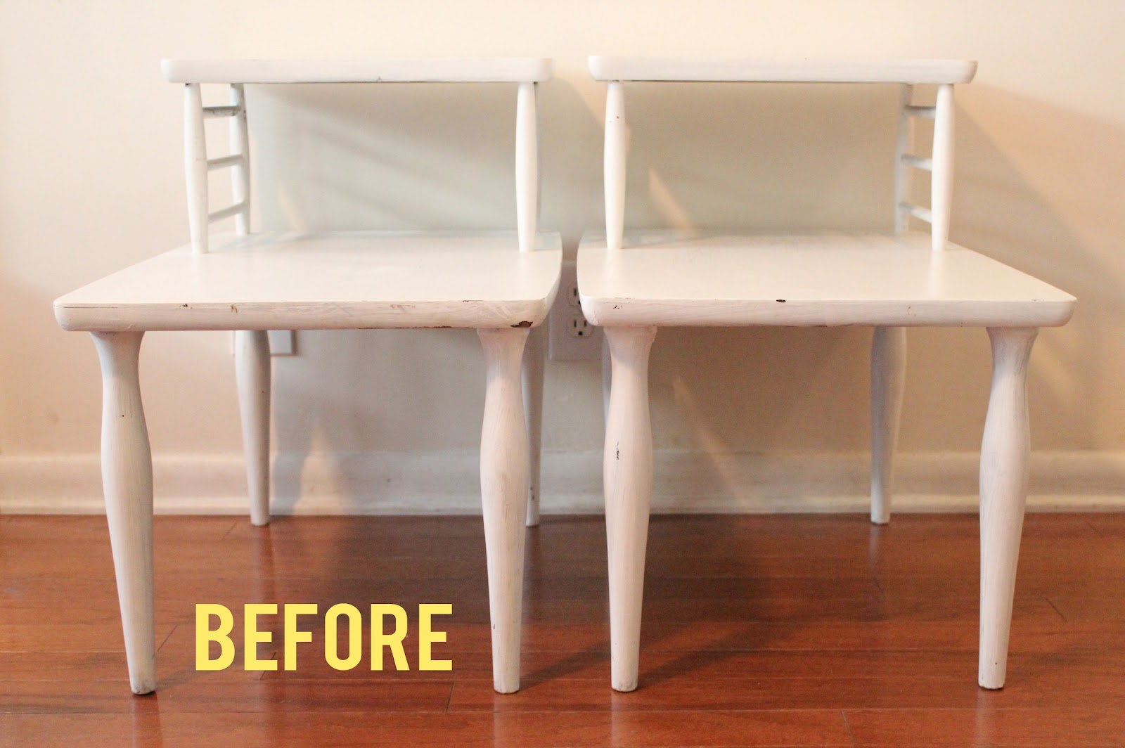 Diy End Table These 2 vintage end tables