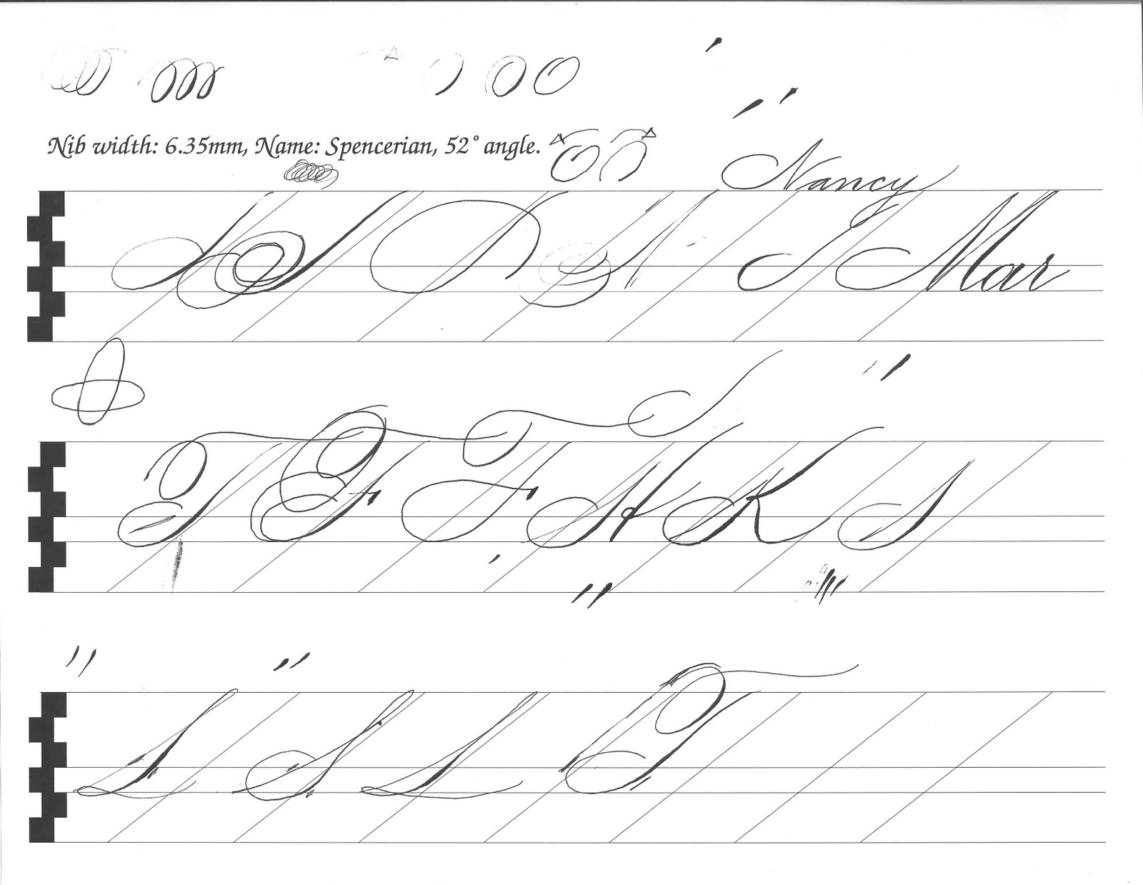 Calligraphy For Fun Spencerian F S Lm