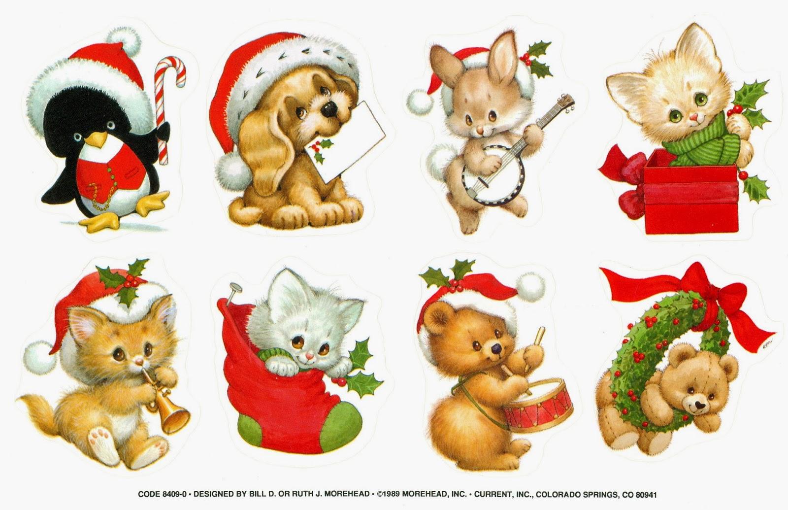 Navidad Stickers Y Clings Navideos