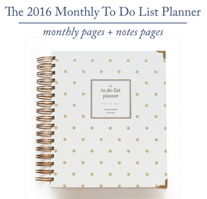 2016 ShePlans 2016 Monthly To Do List Planner