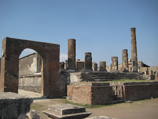 The Temple of Jupiter at front of the Pompeii Forum.