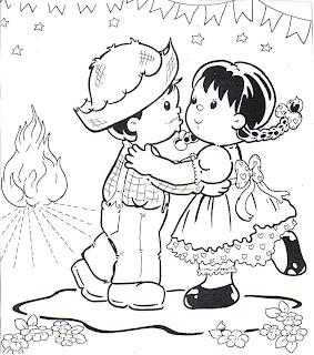 Desenhos De Festa Junina Para Colorir   Figuras E Imagens De Festa