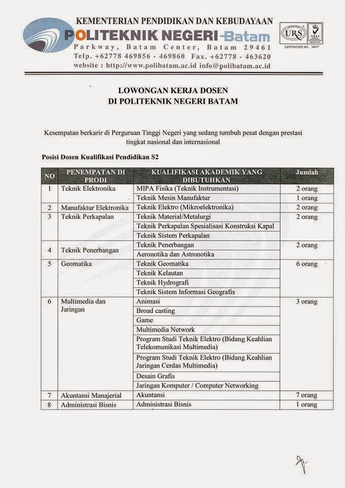 Image Result For Lowongan Kerja Batam