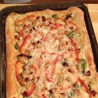 Pizza au poulet grillé