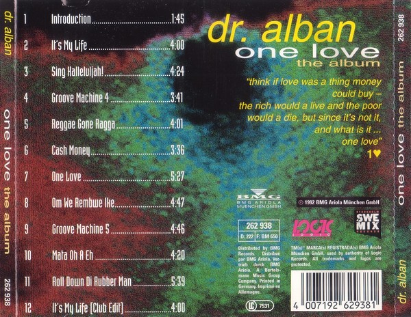 vinyl video dr alban it 39 s my life 1992. Black Bedroom Furniture Sets. Home Design Ideas