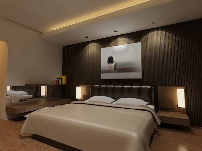 Master - Nuance brown For Interior Design bedrooms. Bed