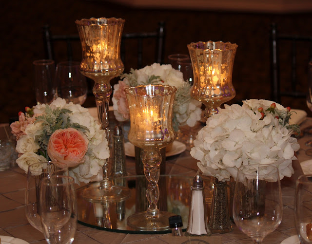 Reception Table Centerpiece at Glen Sanders Wedding Flowers