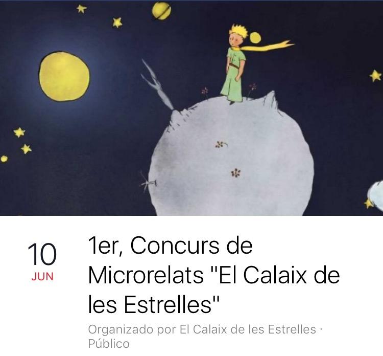 """2on PREMI 1er Concurs Microrelats """"El Calaix de les Estrelles"""""""