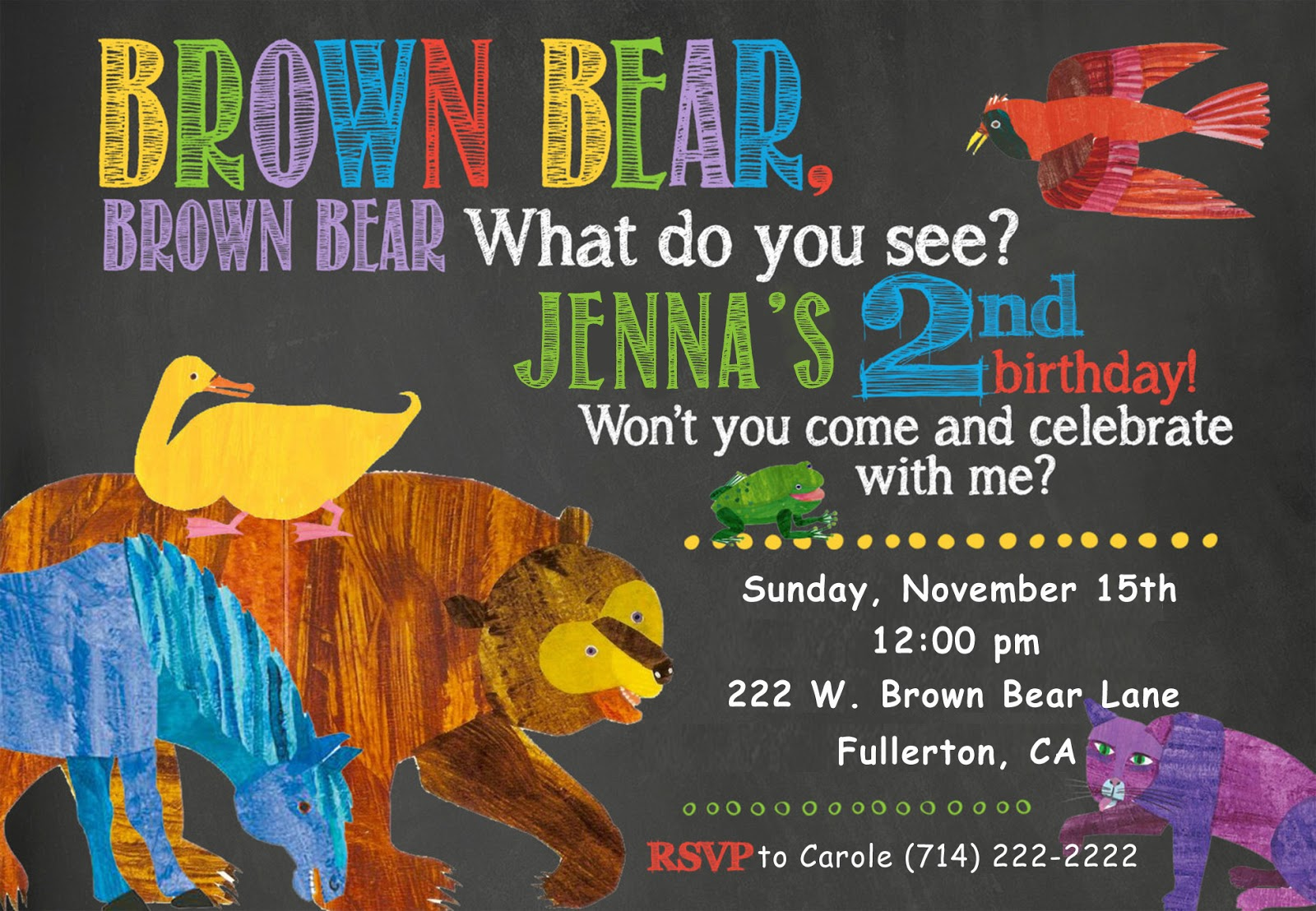 Invite and delight brown bear brown bear birthday brown bear brown bear birthday filmwisefo
