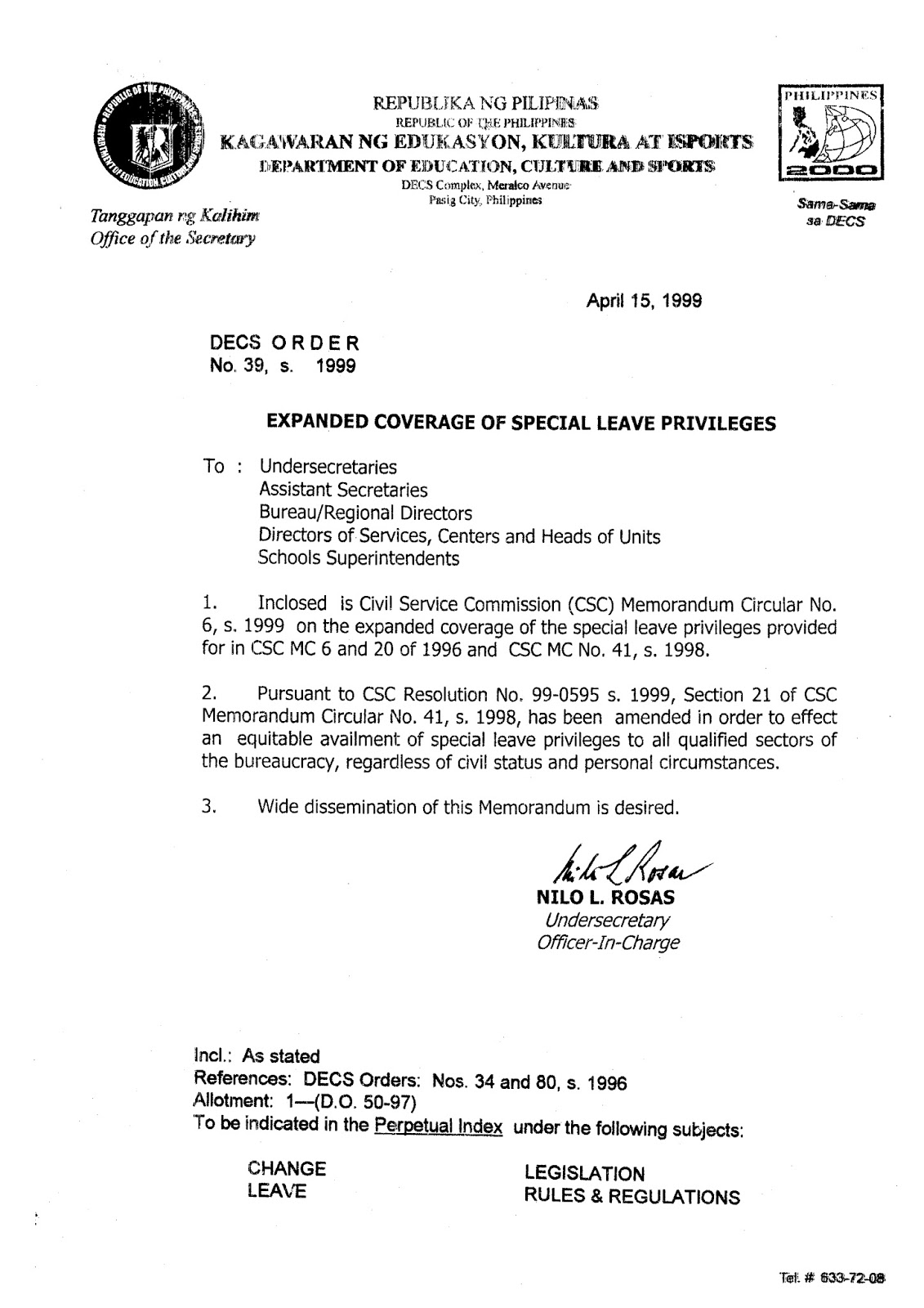 CSC Memo Circular 41 s 98 | Sick Leave | Parental Leave