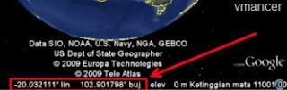 Google Earth - mencari koordinat lokasi