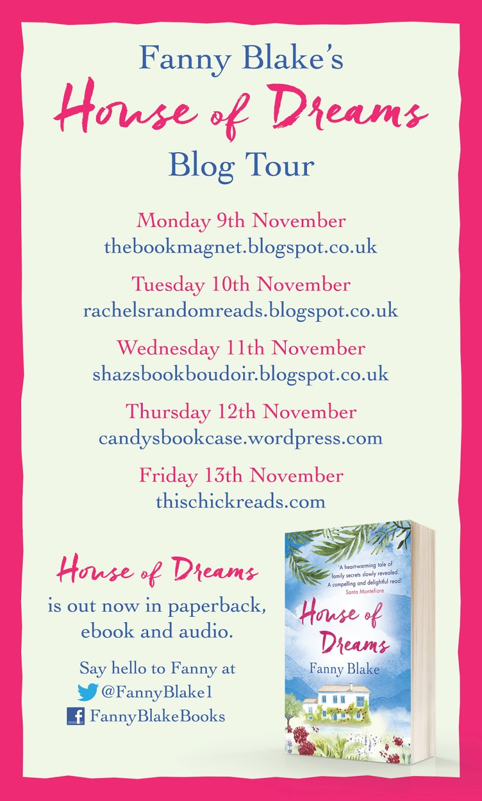 The book magnet blog tour house of dreams fanny blake for Dream home book tour
