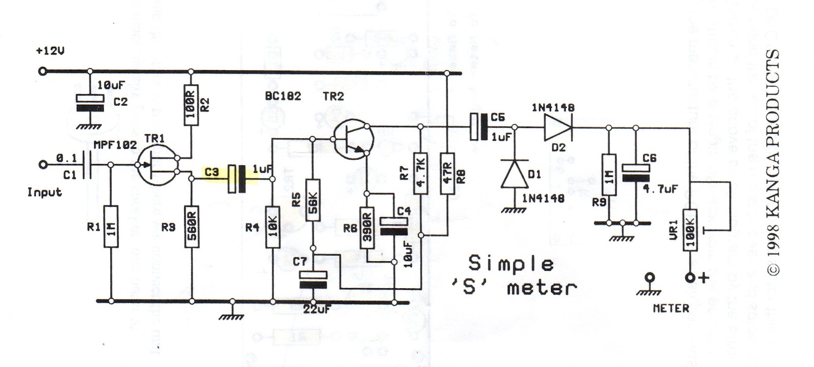 S Meter Circuit Diagram Wiring Library 10h2 To 2mh2 Frequency Counter